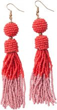 PIECES Tassel Earrings Women Red