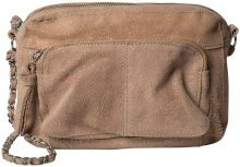 PIECES Suede Crossbody Bag Women Beige