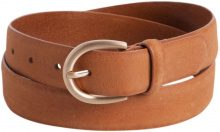 PIECES Leather Jeans Belt Women Brown