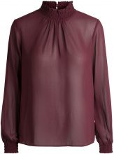 PIECES Long Sleeved Blouse Women Red