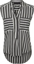 VERO MODA Striped Sleeveless Shirt Women Black