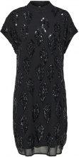 SELECTED Sequins - Short Sleeved Dress Women Black