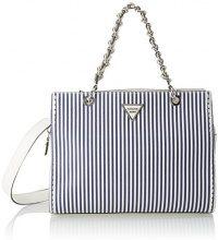 Guess Hobo, Borsa a Tracolla Donna, Multicolore (Blue Stripe), 14.5x25x33.5 cm (W x H x L)