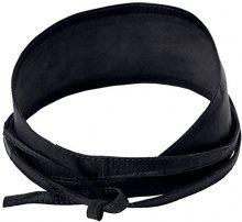 PIECES VIBS LEATHER TIE WAIST BELT NOOS, Cintura Donna, Nero (Black), 70 cm