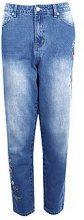 Kayla mom jeans ricamati