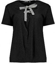 Grace T-shirt con lacci a quadretti gingham