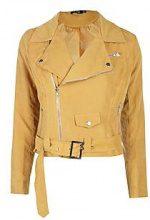 Holly giacca in camoscio sintetico con cintura