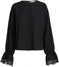 PIECES Long Sleeved Lace Blouse Women Black