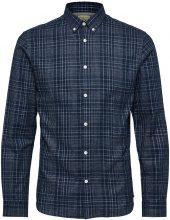 SELECTED Checked - Long Sleeved Shirt Men Blue