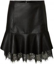 VERO MODA Leather-look Skirt Women Black