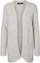 VERO MODA Long Knitted Cardigan Women Grey