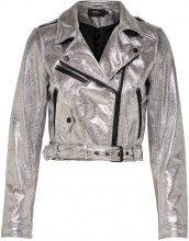 ONLY Cropped Biker Jacket Women Silver