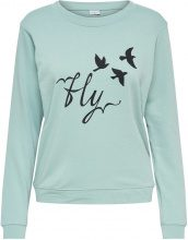 ONLY Printed Sweatshirt Women Green