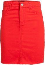 PIECES Denim Skirt Women Red