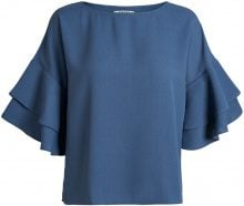PIECES 2/4 Sleeved Frill Blouse Women Blue