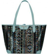 Borsa Shopping Patrizia Pepe  2V6907/A2NZ Shopping Bag Donna Verde Etnico/ Azzuro