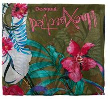 Desigual Foulard_gardenette, Sciarpa Donna, Verde (Avocado 4124), Unica (Taglia Produttore: U)
