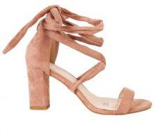Sandali allacciati alla caviglia con tacco quadrato