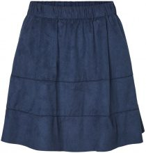 NOISY MAY Faux Suede Skirt Women Blue
