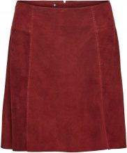SELECTED Suede - Skirt Women Red