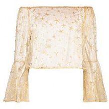 Ava Off The Shoulder Glitter & Pearl Embellished Top