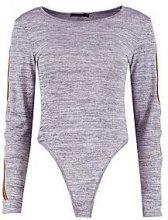 Zamia sportivo con Body in maglia a righe laterali