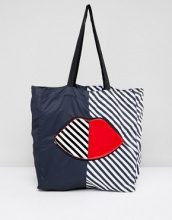 Lulu Guinness - Borsa shopper ripiegabile a righe - Multicolore