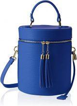 Chicca Borse 8638, Borsa a Spalla Donna, Blu (Blue), 20x24x20 cm (W x H x L)