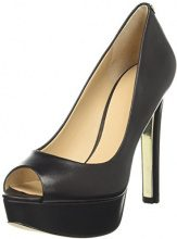 Guess Footwear Dress Open Toe, Scarpe col Tacco con Plateau Donna, Nero, 39 EU