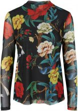 Y.A.S Floral Loose Long Sleeved Top Women Black