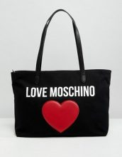 Love Moschino - Maxi borsa in tela - Nero