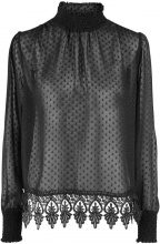 Y.A.S Mesh Party Top Women Black