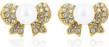 Orecchini Fashionvictime  Orecchini Donna  - Gioiello Metallo Oro - Perla, Cristallo