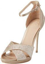 Guess Footwear Dress Sandal, Scarpe Col Tacco con Plateau Donna, Beige (Medium Natural), 35 EU