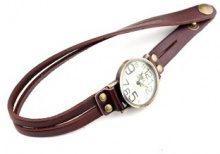 Orologio da polso a bracciale con cinturino sottile in pelle