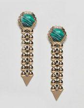ASOS - Orecchini con maglie in metallo e pietra in resina - Oro