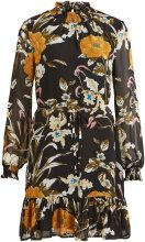 OBJECT COLLECTORS ITEM Flower Printed Long Sleeved Dress Women Black
