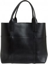 PIECES Leather Shoulder Bag Women Black