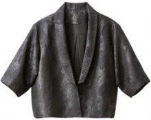Giacca corta modello kimono in jacquard
