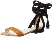 Kenneth Cole Valen, Sandali con Zeppa Donna, Multicolore (Umber/Black 909), 37 EU