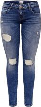 ONLY Coral Super Low Skinny Fit Jeans Women Blue
