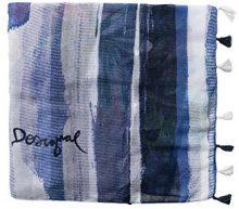 Desigual Foulard_equilibrium, Sciarpa Donna, Blu (Navy 5000), Taglia unica (Taglia Produttore: U)