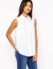 ASOS - Camicia bianca senza maniche