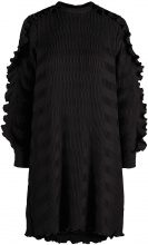 Y.A.S Flounce Long Sleeved Dress Women Black