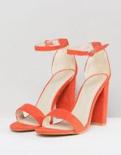 Glamorous - Sandali arancioni effetto nudo con tacco largo - Arancione