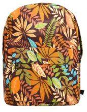 Zaino con stampa colorata a foglie