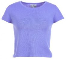 T-shirt crop a tinta unita