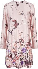 Y.A.S Floral Satin Dress Women Pink