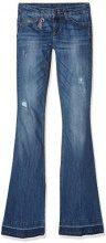 liu jo Bottom Up Beat Regular Waist, Jeans Donna, colore blu (long.blue blond wash 7l909), taglia W29/L34