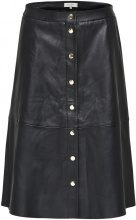 SELECTED Lamb - Leather Skirt Women Black